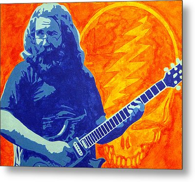 Jerry Garcia Metal Print by Doran Connell