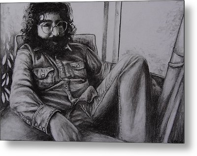Jerry Garcia In '72   Metal Print by Leandria Goodman
