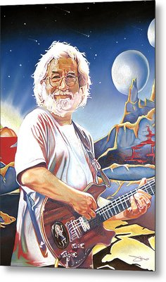 Jerry Garcia Live At The Mars Hotel Metal Print by Joshua Morton