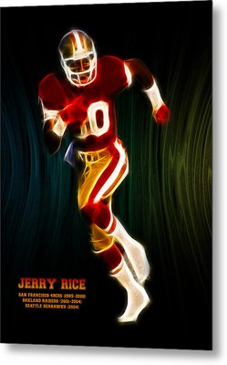 Jerry Rice Metal Print by Aged Pixel