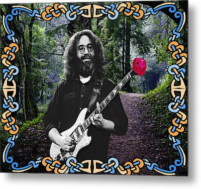 Jerry Road Rose 1 Metal Print by Ben Upham