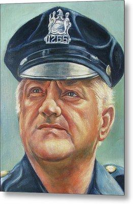 Jersey City Policeman Metal Print