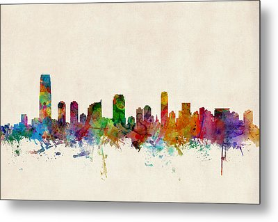 Jersey City Skyline Metal Print by Michael Tompsett
