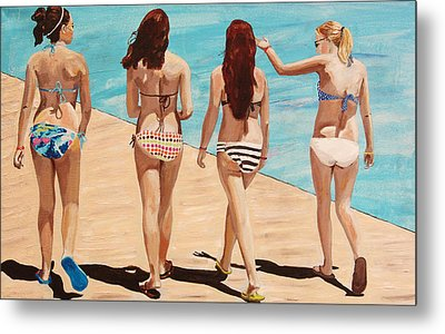 Jersey Girls Point Pleasant Metal Print by Kevin Callahan