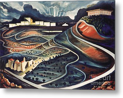 Jerusalem Diamonds Metal Print by Yael Avi-Yonah