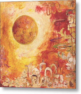 Jerusalem The Centrifugal Force Metal Print by Hanna Fluk