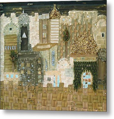 Jerusalem The City That Is Joined Together Metal Print by Reli Wasser