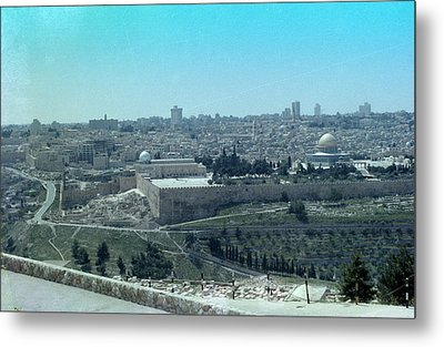 Metal Print featuring the photograph Jerusalem by Tony Mathews