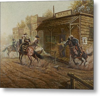 Jesse James Bank Robbery Metal Print by Gregory Perillo