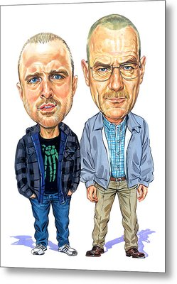 Jesse Pinkman And Walter White Metal Print by Art