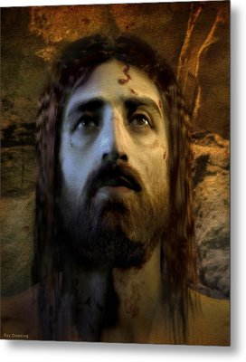 Jesus Alive Again Metal Print by Ray Downing