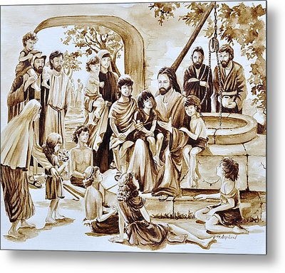 Jesus And Children Metal Print