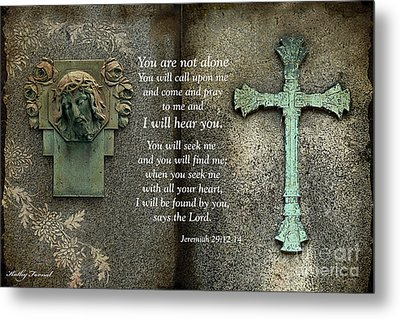 Jesus And Cross - Inspirational - Bible Scripture Metal Print