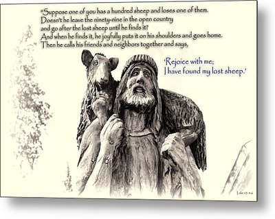 Jesus And Lamb Metal Print