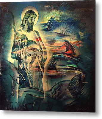 Jesus And The Lost Sheep 2004 Metal Print