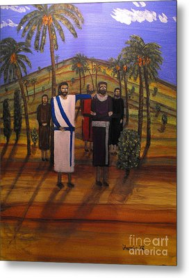 Jesus And The Rich Young Ruler Metal Print by Larry Farris