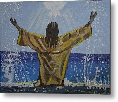 Jesus Baptism Metal Print by Kate Farrant