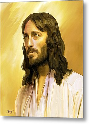 Jesus Cares Metal Print