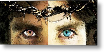 Jesus Christ - How Do You See Me Metal Print by Sharon Cummings