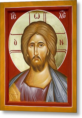 Jesus Christ Metal Print by Julia Bridget Hayes