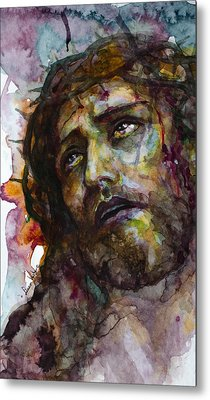 Metal Print featuring the painting Jesus Christ by Laur Iduc