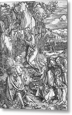 Jesus Christ On The Mount Of Olives Metal Print by Albrecht Durer or Duerer