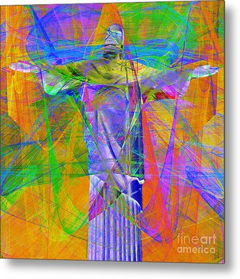 Jesus Christ Superstar 20130617 Square Metal Print by Wingsdomain Art and Photography