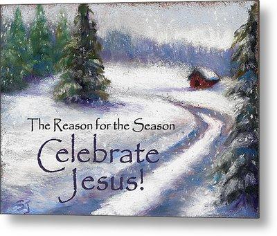 Jesus Christmas Metal Print by Susan Jenkins