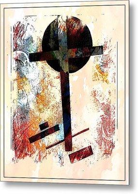 Jesus Christ_savior Of The World Metal Print by Allen Beilschmidt