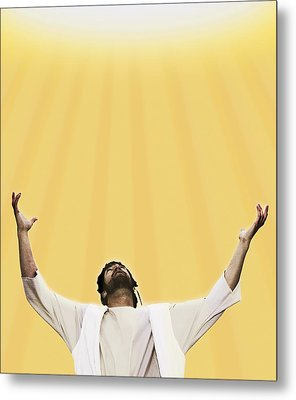 Jesus Cries Out To Heaven Metal Print by Kelly Redinger