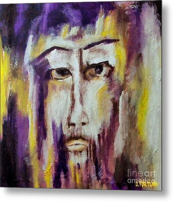 Metal Print featuring the mixed media Jesus by Dragica  Micki Fortuna