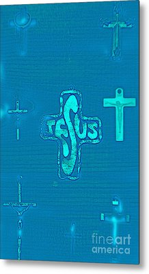 Jesus In The Middle Metal Print by Tina M Wenger