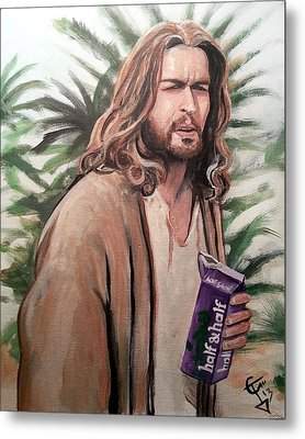 Jesus Lebowski Metal Print by Tom Carlton