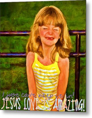 Jesus Love Is Amazing Metal Print