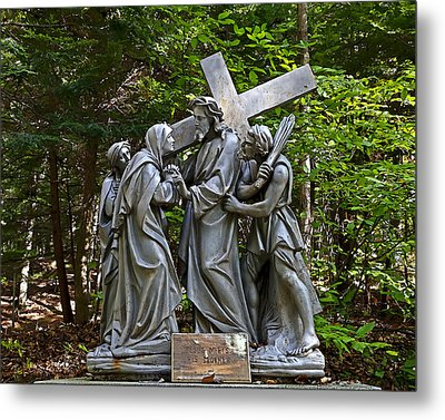 Jesus Meets His Mother Metal Print by Terry Reynoldson