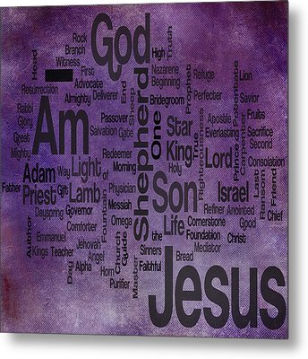 Jesus Name 2 Metal Print by Angelina Vick