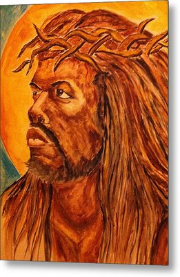 Jesus Of Color Metal Print by Clyde Taylor
