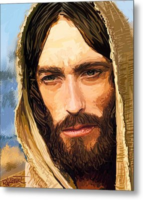 Jesus Of Nazareth Portrait Metal Print