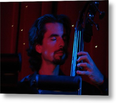 Jesus On The Bass Metal Print