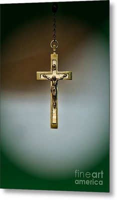 Jesus On The Cross 1 Metal Print by Paul Ward