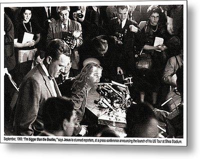 Jesus Press Conference 1966 Metal Print by Tony Rubino