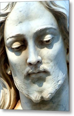 Jesus Statue Metal Print by David G Paul