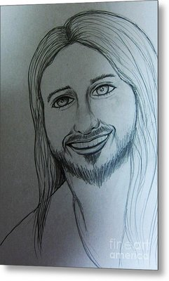 Jesus Sweet Smile Metal Print