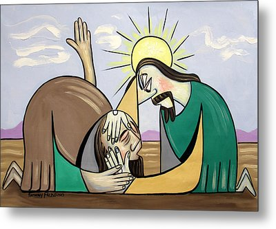 Jesus Will Meet You Where You Are Metal Print by Anthony Falbo