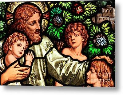 Jesus With Children Metal Print by Adam Jewell