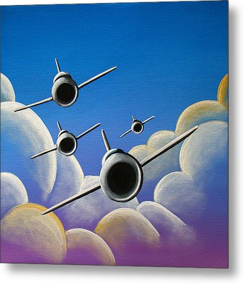 Jet Quartet Metal Print by Cindy Thornton