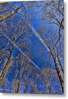 Metal Print featuring the photograph Jet Trails by Robert Culver