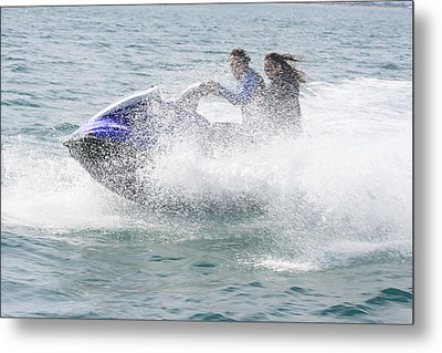 Jetboat Fun Metal Print