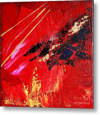Metal Print featuring the painting Jetlag by Susanne Baumann