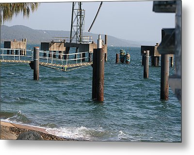 Metal Print featuring the photograph Jetty   Stradbroke Island by Phoenix De Vries